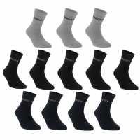 Donnay Ниски Чорапи Quarter Socks 12 Pack Mens Dark Asst Мъжки чорапи