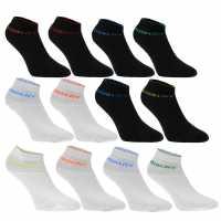 Donnay Ниски Чорапи Quarter Socks 12 Pack Mens Bright Asst Мъжки чорапи