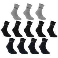 Donnay 12 Чифта Чорапи Quarter 12 Pack Socks Dark Asst Мъжки чорапи