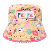 Character Peppa Pig Trapper Hat Infant Boys Melon Bucket Ha Шапки с козирка