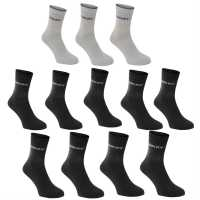 Donnay Мъжки Чорапи Доглезена 12Бр. Crew Socks 12 Pack Dark Assorted Мъжки чорапи