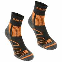Salomon Merino Low 2 Pack Walking Socks Mens Black/Orange Мъжки чорапи