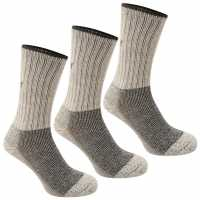 Karrimor Midweight Boot Sock 3 Pack Mens Beige Мъжки чорапи