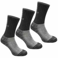 Karrimor Midweight Boot Sock 3 Pack Mens Black Мъжки чорапи
