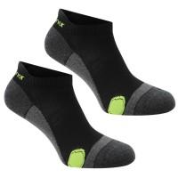 Karrimor Мъжки Чорапи За Бягане 2 Pack Running Socks Mens Black/Fluo Мъжки чорапи