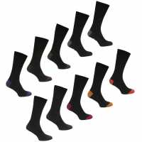 Lee Cooper 10 Pack Socks Mens