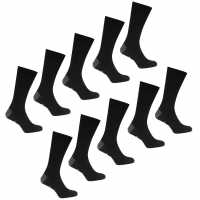 Lee Cooper 10 Pack Socks Mens Black Мъжки чорапи