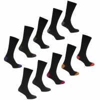 Lee Cooper 10 Pack Socks Mens Black Asst Мъжки чорапи