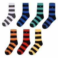 Kangol 7 Чифта Официални Детски Чорапи Formal Sock 7 Pack Junior Boys Multi Colr Strp Детски чорапи