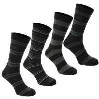 Giorgio Мъжки Чорапи На Райе 4Бр. 4 Pack Striped Socks Mens - Мъжки чорапи