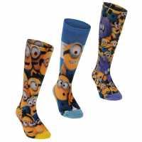 Character 3 Чифта Чорапи 3 Pack Socks Childrens Minions Детски чорапи