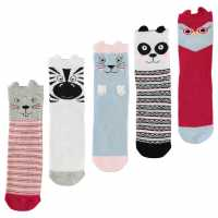 Star Novelty 5 Pack Socks Childrens Owl Детски чорапи