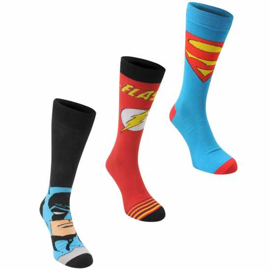 d1cdeefa606 Dc Comics 3 Чифта Мъжки Чорапи 3 Pack Crew Sock Mens Multi Мъжки чорапи
