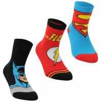 Dc Comics Мъжки Чорапи С Ластик 3Бр. Superman 3 Pack Crew Socks Infants Multi Детски чорапи