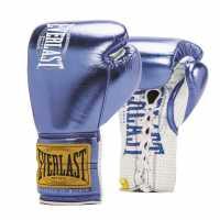Everlast 1910 Fight Gloves Unisex Adults METALLIC BLUE Боксови ръкавици