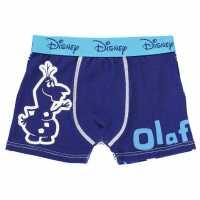 Character Боксерки Момченца Single Boxer Infant Boys Disney Olaf Детско бельо