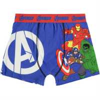 Character Детски Боксерки 1Бр. Опаковка Single Boxer Junior Boys Avengers Детско бельо