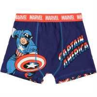 Character Детски Боксерки 1Бр. Опаковка Single Boxer Junior Boys Captain America Детско бельо