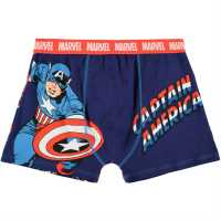 Character Single Boxer Mens Captain America Мъжко бельо