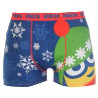 Character Single Boxer Mens Minion Xmas Мъжко бельо