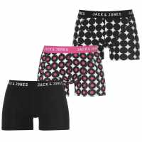 Jack And Jones And Jones 3 Pack Lakritsi Trunks Black/Blue Мъжко бельо