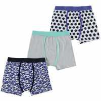 Crafted Three Pack Design Boxers Child Boys Football 3PK Детско бельо