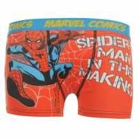 Marvel Spiderman Single Boxer Kids Red Детско бельо