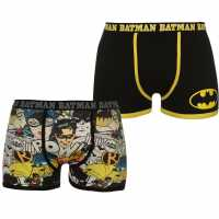 Character Мъжки Боксерки 2 Pack Boxers Mens Batman Мъжко бельо