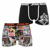 Character Мъжки Боксерки 2 Pack Boxers Mens Star Wars Мъжко облекло за едри хора