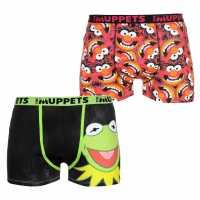 Character Мъжки Боксерки 2 Pack Boxers Mens Muppets Мъжко облекло за едри хора