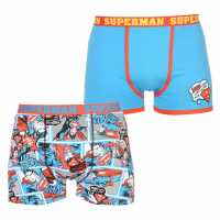 Character Мъжки Боксерки 2 Pack Boxers Mens Superman Мъжко бельо