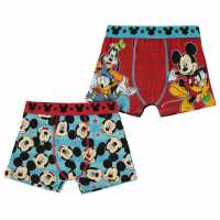 Character 2 Pack Boxers Infant Boys Mickeys Gang Детско бельо