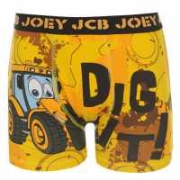 Character Детски Боксерки Един Брой Jcb Single Boxer Infants Yellow Детско бельо