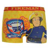 Character Боксерки Малки Деца Fireman Sam Single Boxer Shorts Infant Yellow Детско бельо