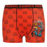 Marvel Мъжки Боксерки Single Boxer Shorts Junior Red Multi Детско бельо