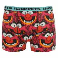 Disney Animal Single Boxer Mens Pink Мъжко бельо