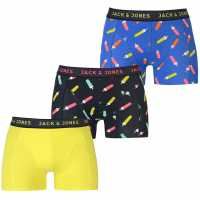 Jack And Jones 3 Pack Popsicle Trunks Blu/Blk/Sul Мъжко бельо