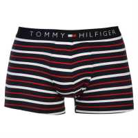 Tommy Hilfiger Stripe Trunk Nvy/Wht/Red Мъжко бельо