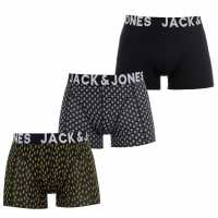Jack And Jones 3 Pack Curtis Trunks Black Мъжко бельо
