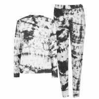 Miso Top And Cuffed Joggers Tracksuit Loungewear Co Ord Set Tie Dye Дамски пуловери