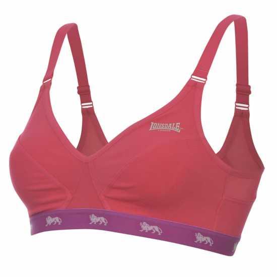 Lonsdale Дамски Спортен Сутиен Sports Bra Ladies FluoPink/Purple Спортни сутиени