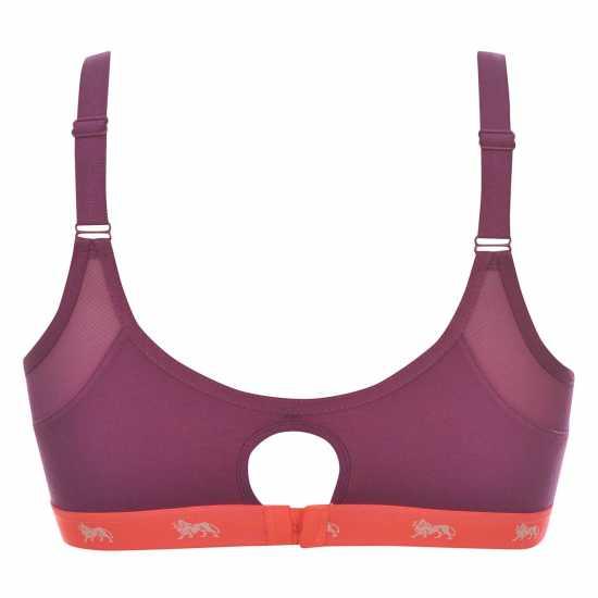 Lonsdale Дамски Спортен Сутиен Sports Bra Ladies BrtPurp/FlCoral Спортни сутиени