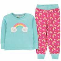 Детска Пижама В Две Части Crafted Essentials Design Pj Set Infants Rainbow Бебешки дрехи