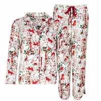 Cote De Moi Дамска Рокля Button Through Night Dress Ladies Multi Детски пижами