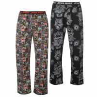 Character 2 Pack Pyjama Bottoms Mens