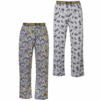 Character 2 Pack Pyjama Bottoms Mens DC Comics Мъжки пижами