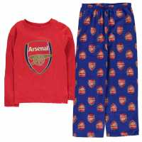 Team Woven Jersey Top Pyjama Set Child Boys Arsenal Детски пижами