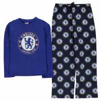 Team Woven Jersey Top Pyjama Set Child Boys Chelsea Детски пижами