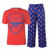 Team Мъжки Комплект Пижама Woven Jersey Top Pyjama Set Mens Arsenal Мъжки пижами