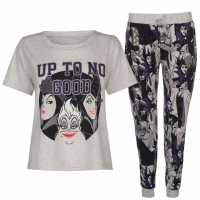 Character Pj Set Ladies Disney Villain Дамски пижами